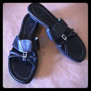 COLE HAAN Nike Air Black Flat Slide Sandal SZ 9 AA